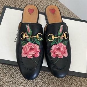 Authentic Gucci Princetown Rose Leather Mule